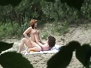 Couple filmed in secret from the bushes by a dirty pervert voyeurism tom