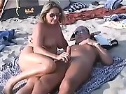 Shameless amateur femmes taking care of their horny men's needs in public